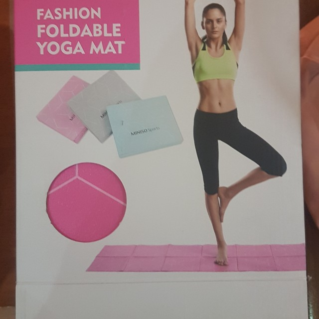 Free Shipping Brand New Miniso Foldable Yoga Mat On Carousell