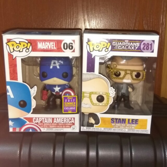 (ON HAND) Captain America Bucky Barnes & Stan Lee Marvel Funko Pop Bundle