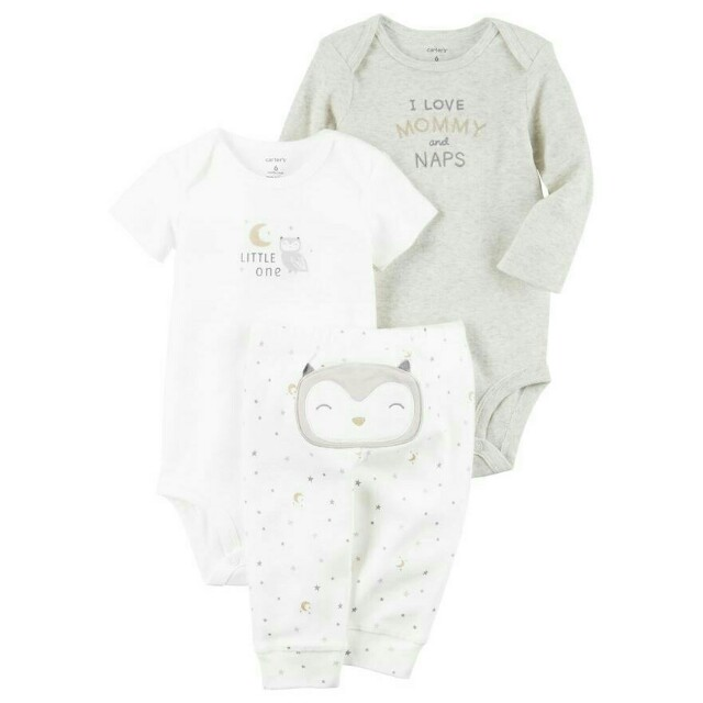 Carter's Baby Onesies Bodysuit Pajama Set Sleeping Outfit Clothes Unisex