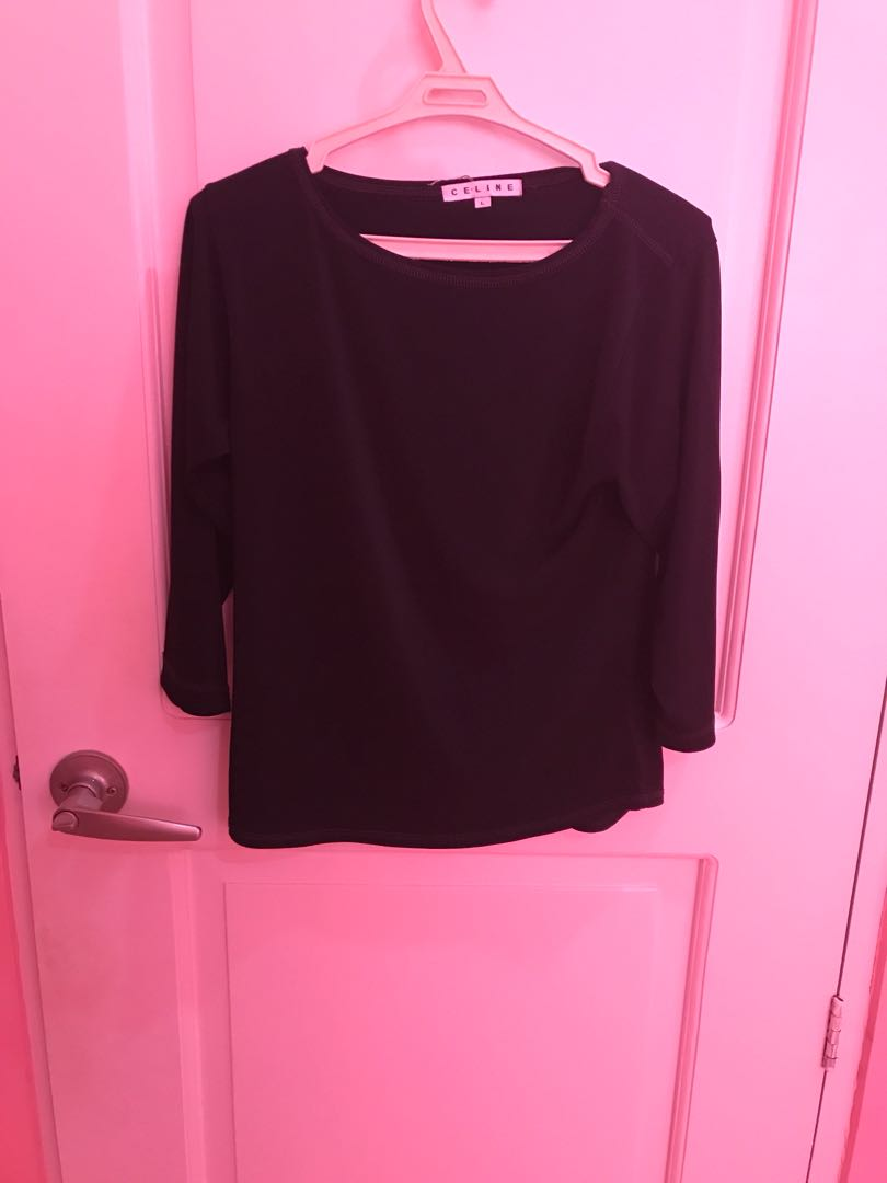 Celine Black Plain Top