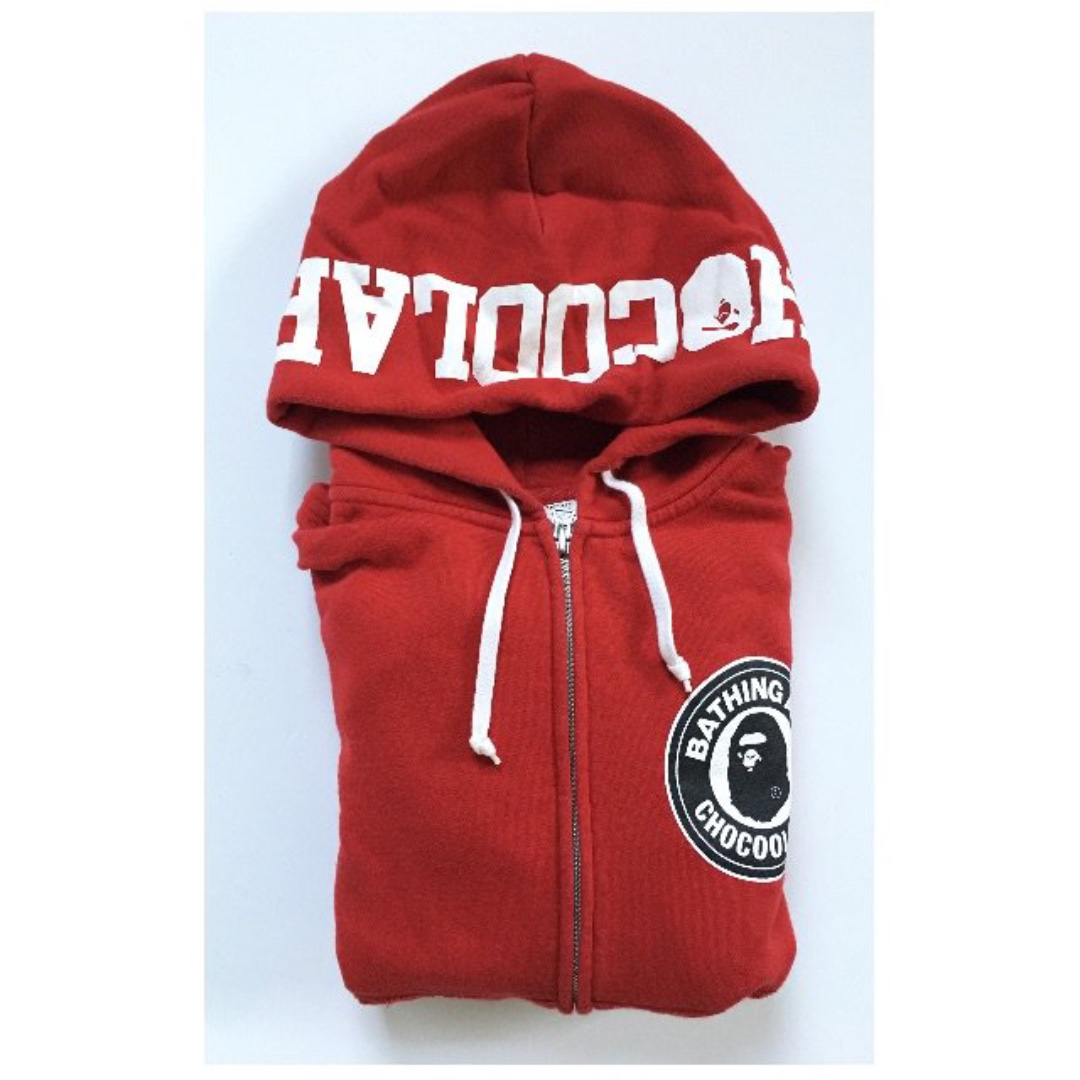 chocoolate x APE 聯名 紅色連帽外套 二手 S號