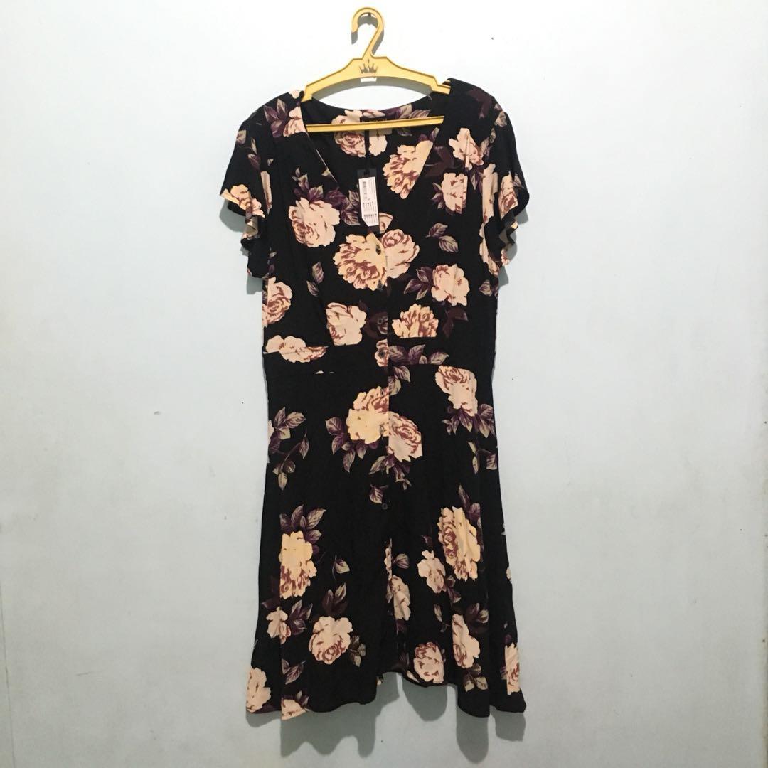Cotton On Low Neckline Floral Dress
