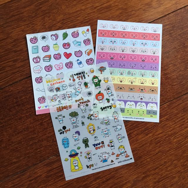 Cute planner stickers sheets kawaii DIY heart coffee pig