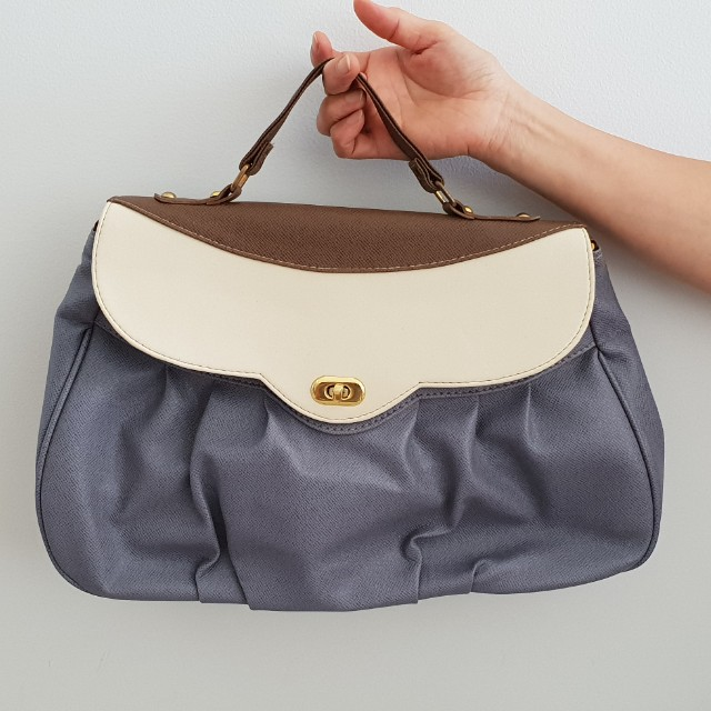 Cute three tone adjustable bag