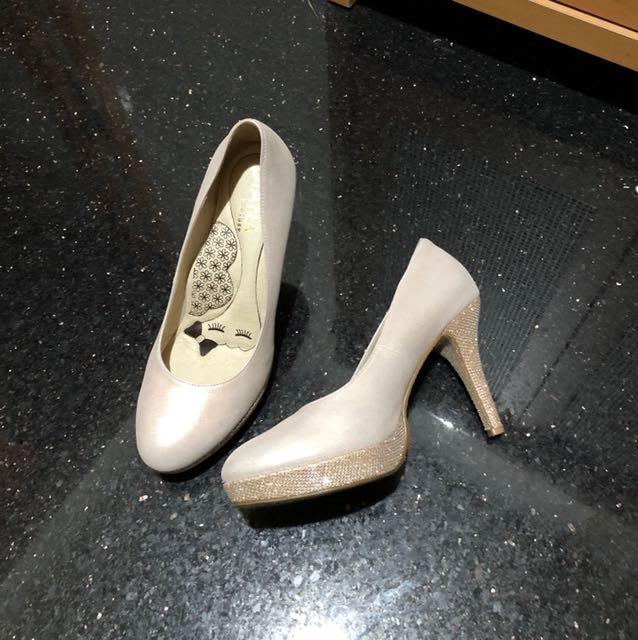 大降價專櫃Diana粉金鞋/新娘鞋