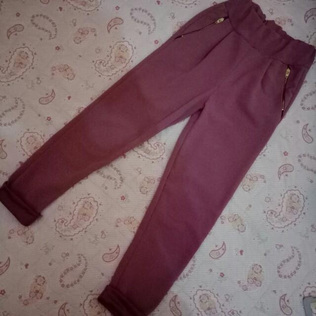 Dusty pink pants