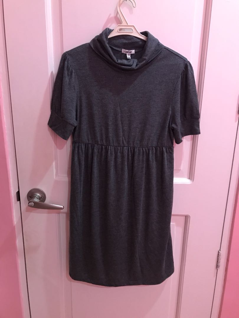 Forever21 Gray Turtle Neck Dress