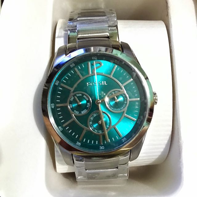Fossil chrono Blue Green Dial Watch