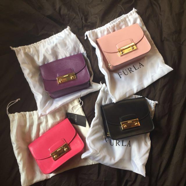 bcea0c799439 FURLA Julia Mini Studded Leather Crossbody Bag  CarousellxTULC ...
