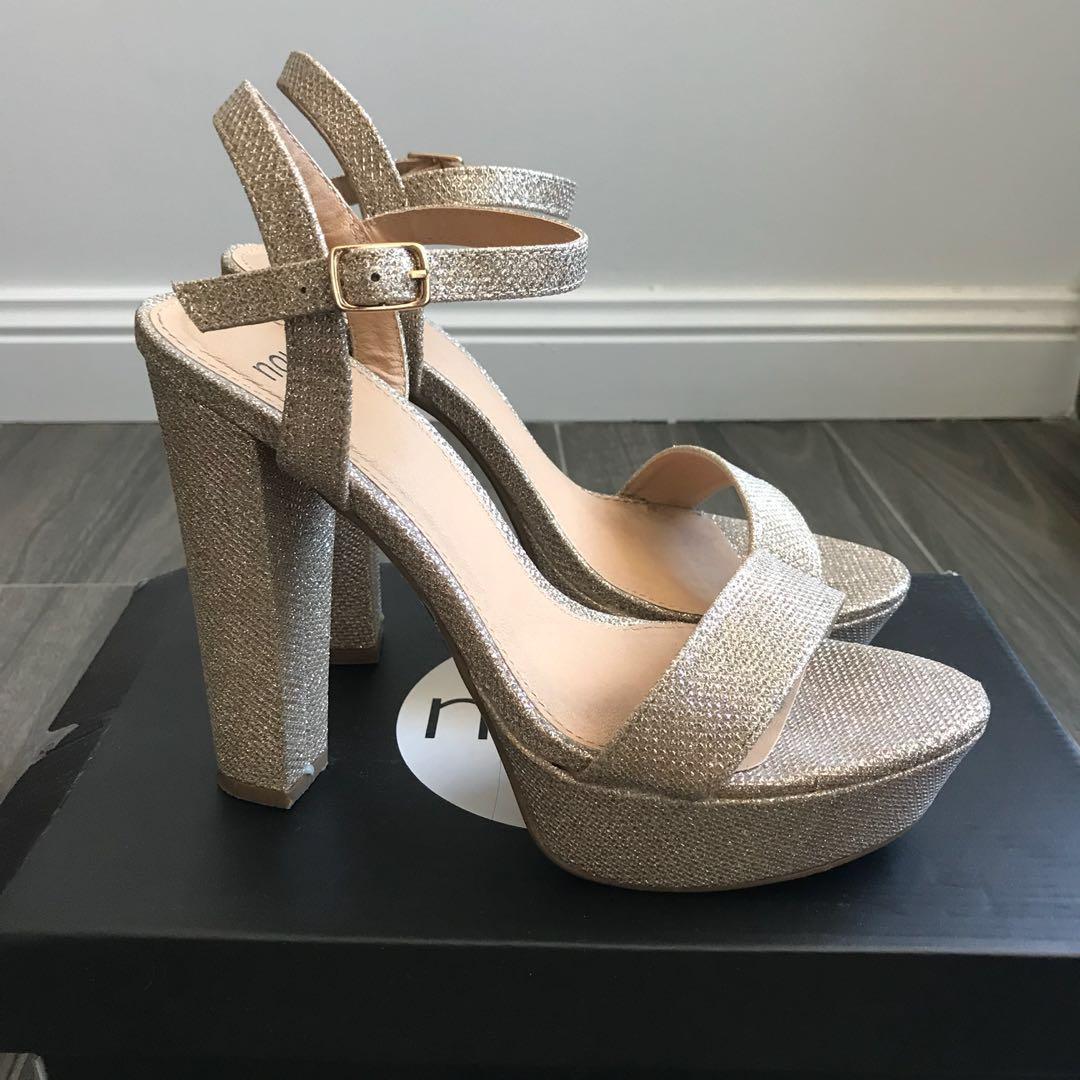 Gold glitter pumps - Size 8