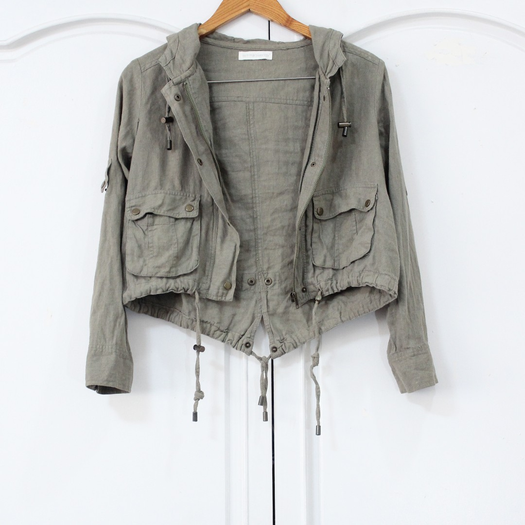 [RESERVED] Green Hooded Jacket