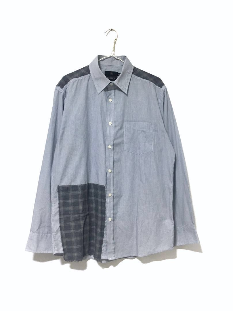 (HANDMADE) Patch Work Stripe Shirt