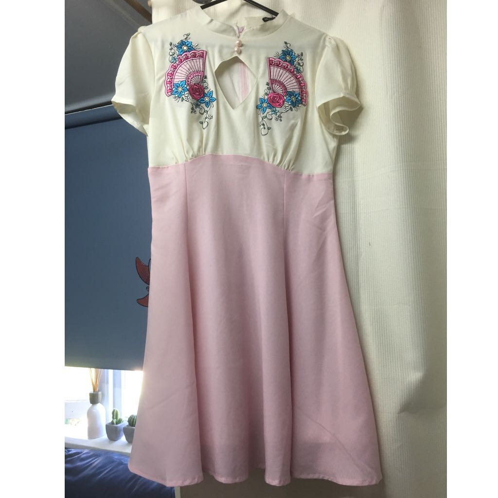 Hell Bunny Embroidered Dress Size S
