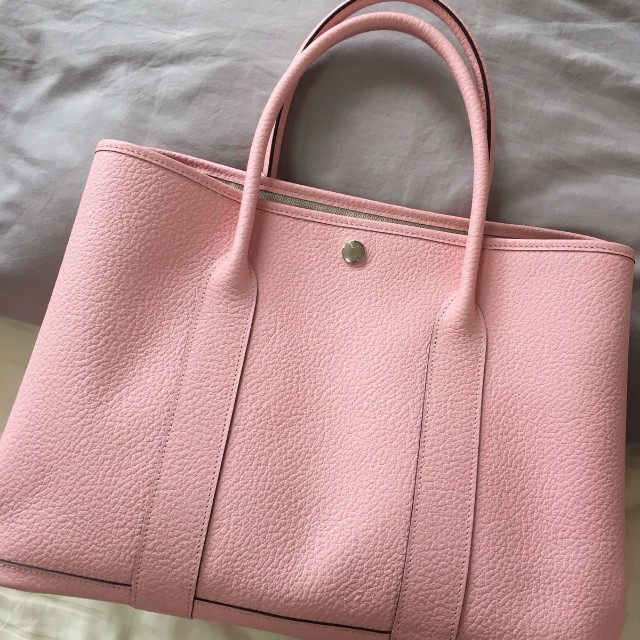 Hermes Garden Party 36 Bag in Negonda Leather (Rose Sakura Pink ... fdedab8b64