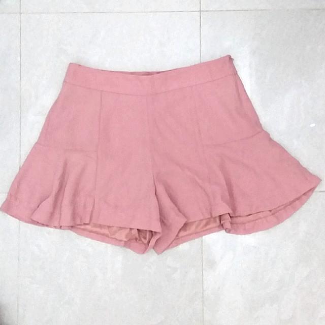 BNWOT High waisted peach pink skort/ pant skirt