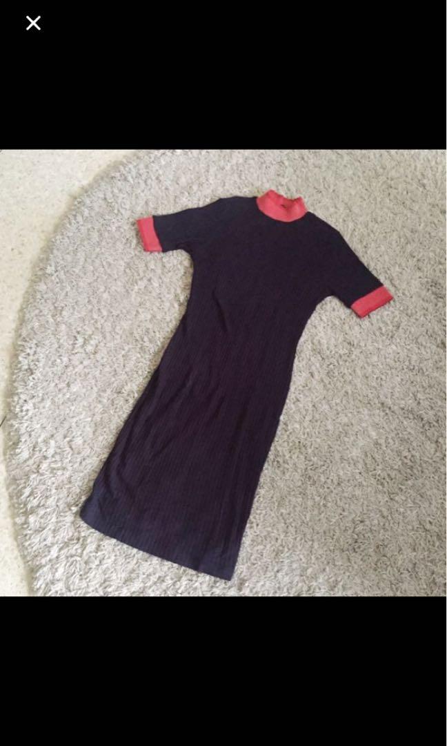 Highneck zara dress