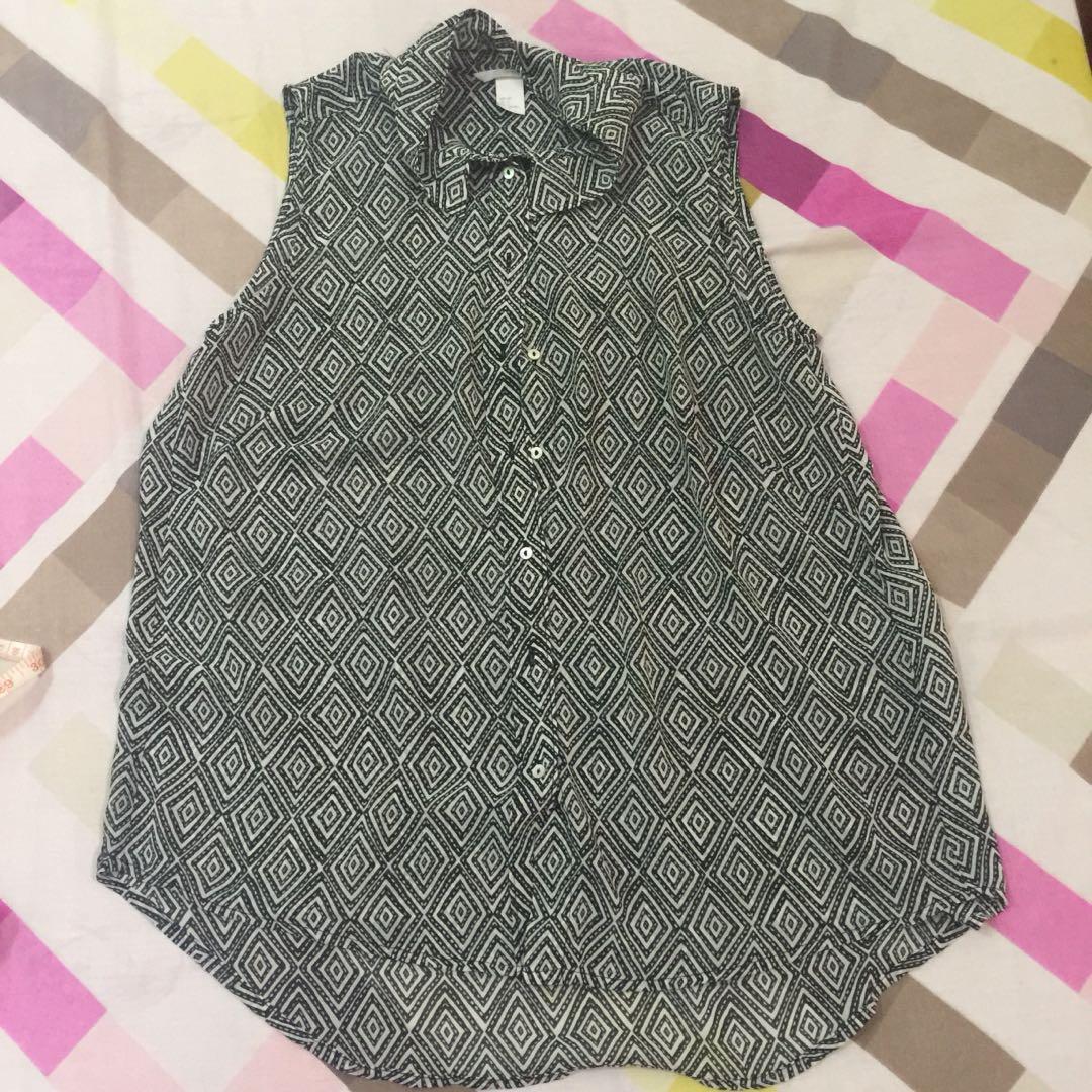 H&M Printed Sleeveless Top