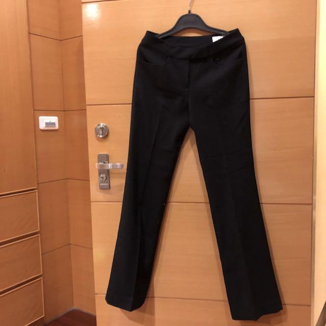 全新IENA 毛料直筒 黑色長褲 西裝褲