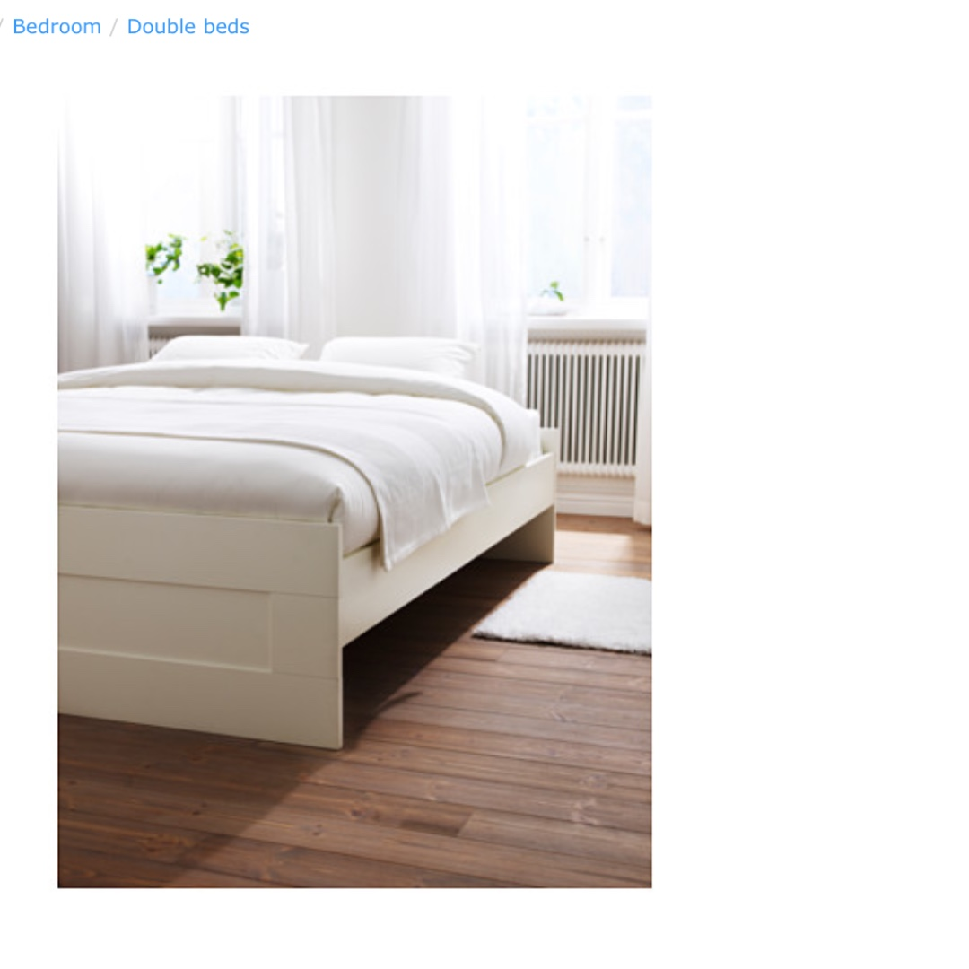 Picture of: Ikea Brimnes White Queen Bed Package For Sale Furniture Beds Mattresses On Carousell