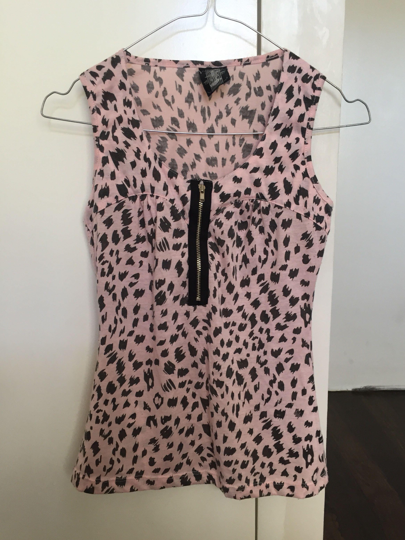 Jag Pink Animal Printed Top