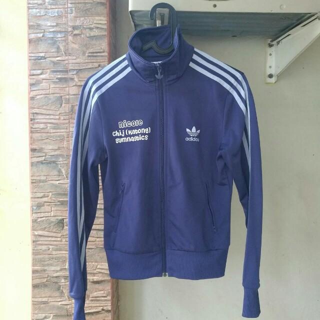 Jaket Adidas Ungu Tracktop Ori