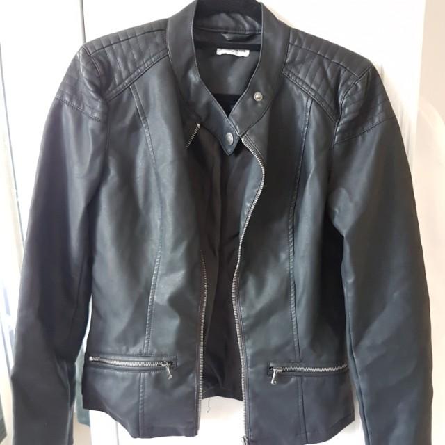 JDY Asos faux leather biker jacket
