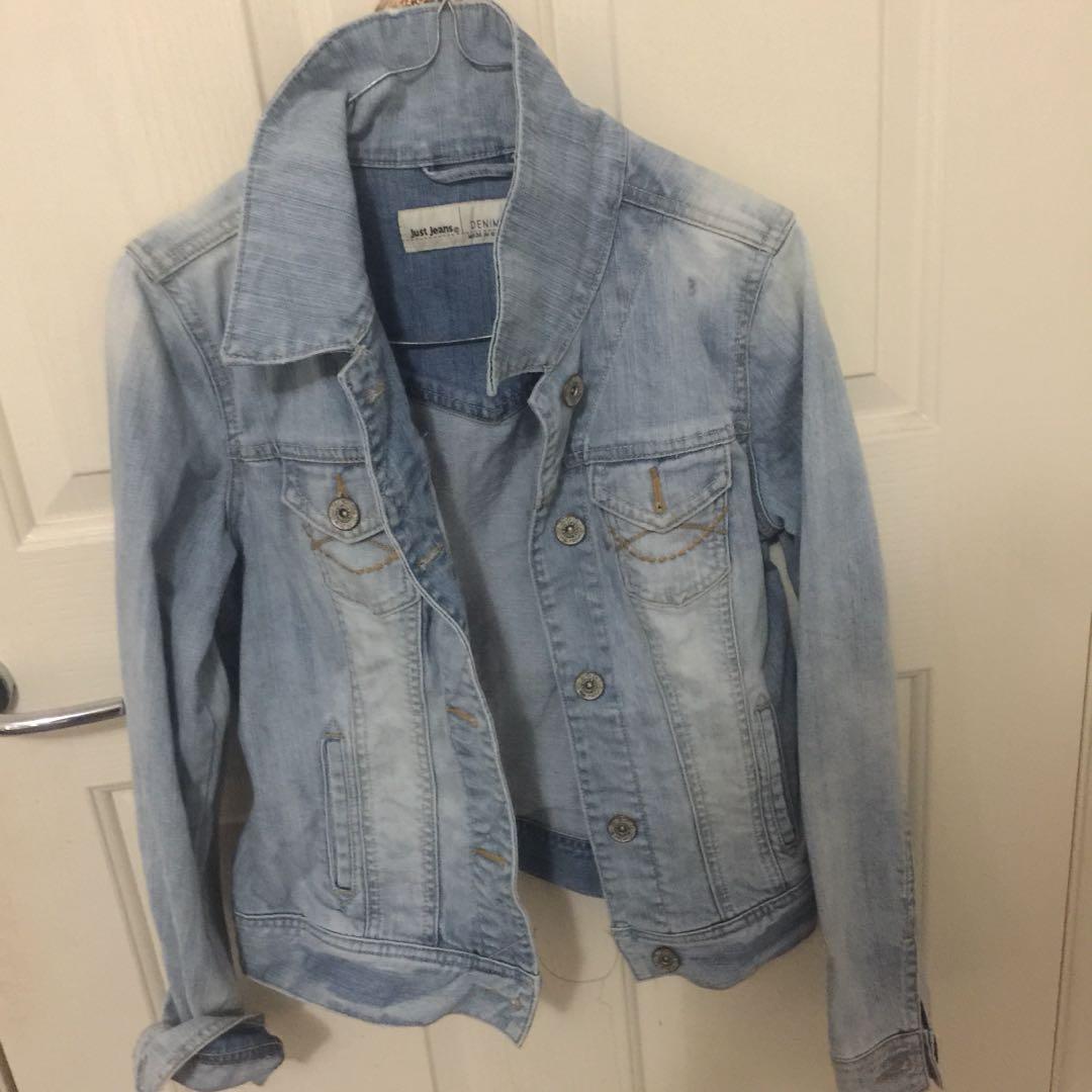 Just jeans denim jacket size 8