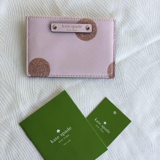 Kate Spade Pink Polka Dot Cardholder