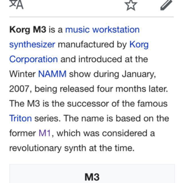 KORG M3-61 and M3-61 Xpanded