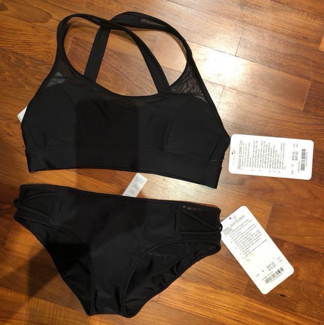 Lululemon black bikini set worth AUS$150