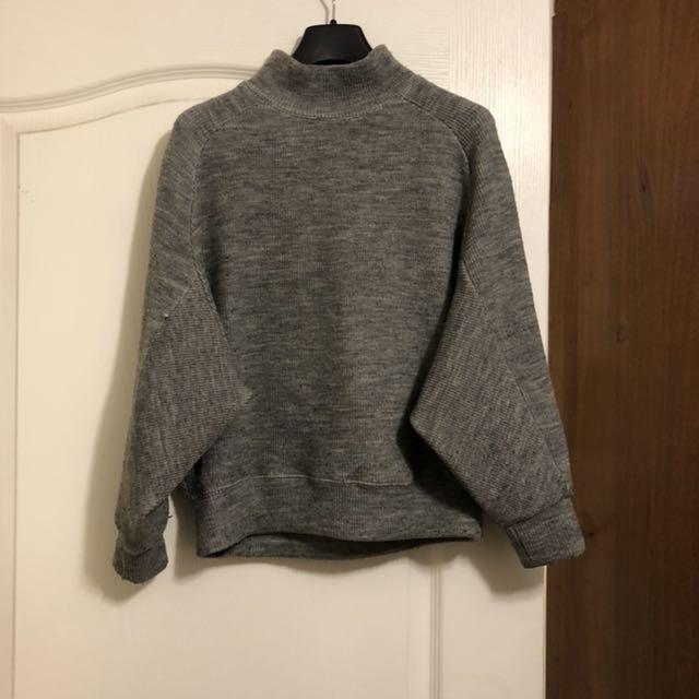 灰色連袖上衣Made in Korea