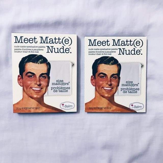 Meet Matte Nude Eyeshadow Palettes