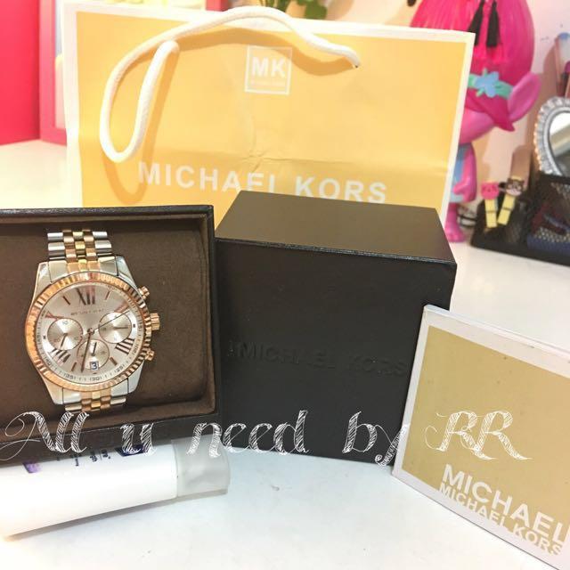 Michael Kors Lexington Chronograph Tri-Tone Ladies Watch Item No. MK5735