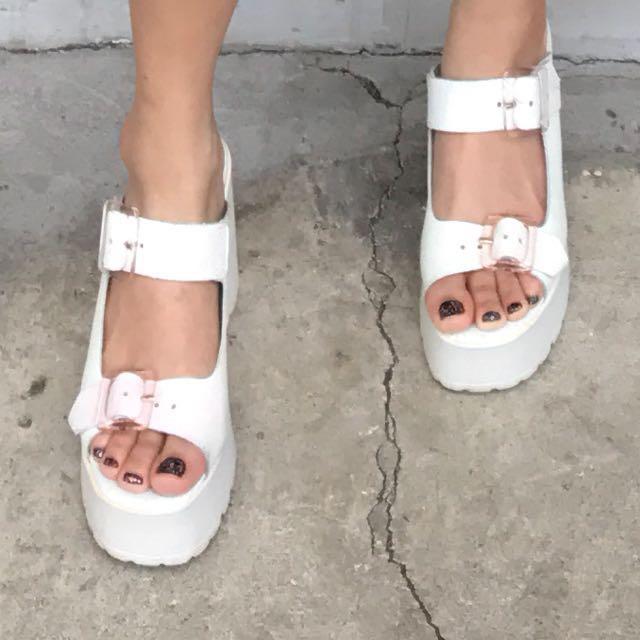 Miista Rachel Mule Holographic Sandals