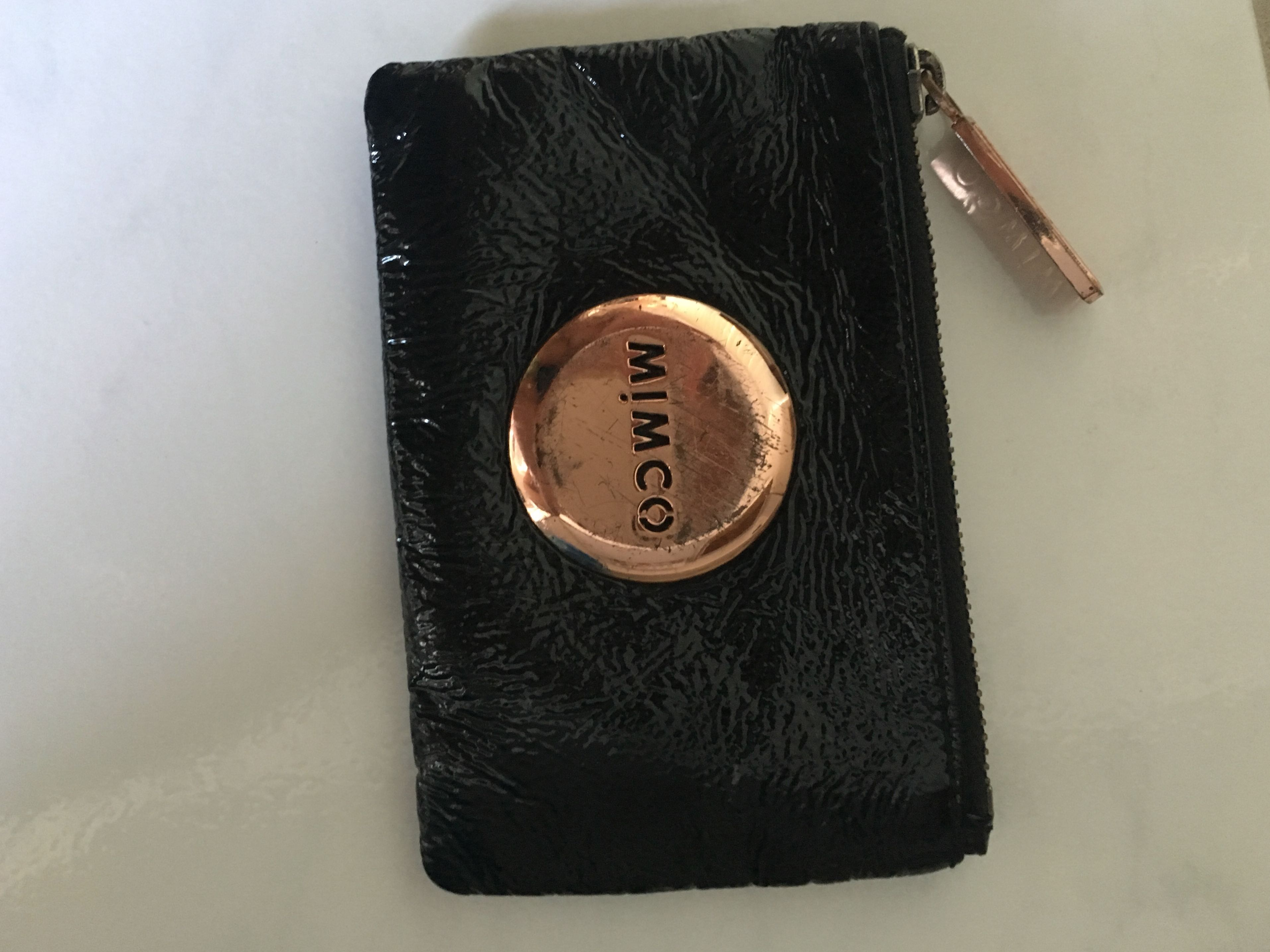 Mimco Black&Rose Gold small pouch
