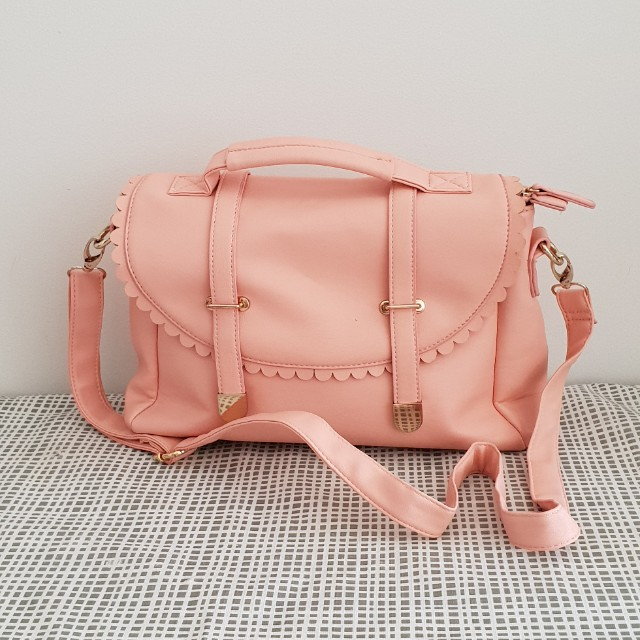 Miss Shop cute pastel pink adjustable bag