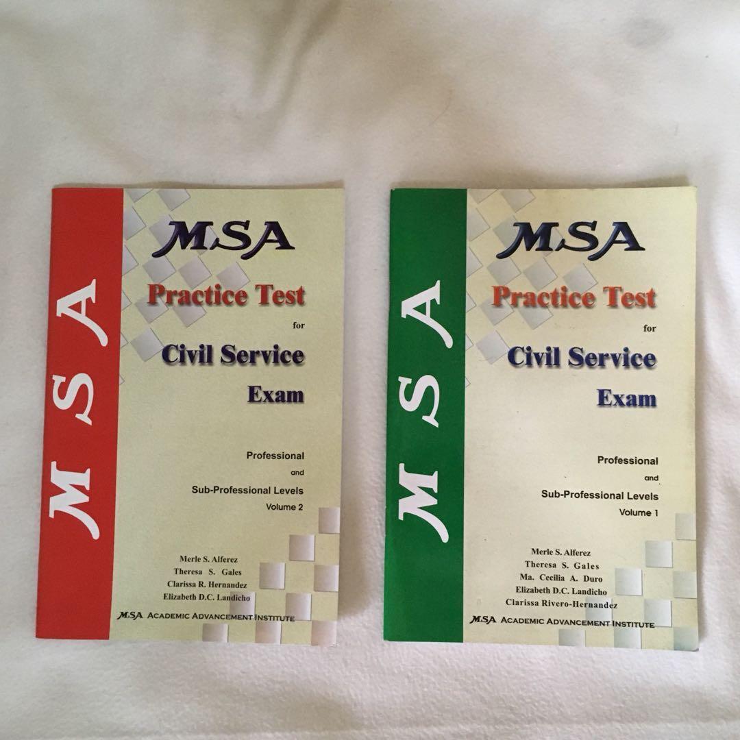 MSA Practice Test for Civil Service Exam 📚 | 📖 B48 on
