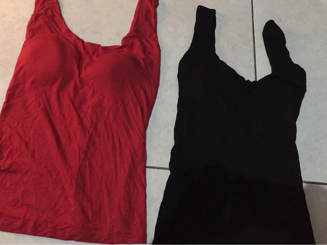 New! Sisa butik! Basic bra pad blouse