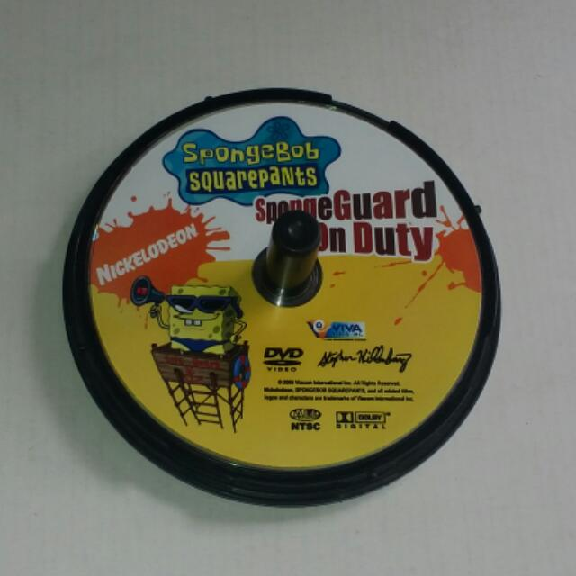 Nickelodeon SpongeBob Squarepants SpongeGuard On Duty DVD