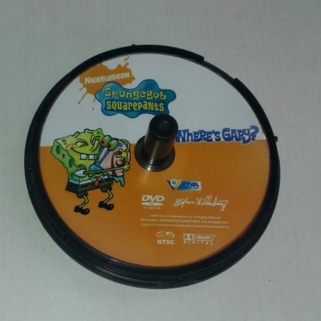 Nickelodeon SpongeBob Squarepants Where's Gary DVD