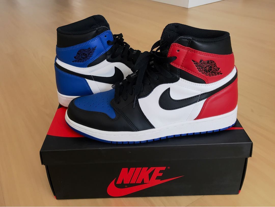 734e5e0ec0da Nike Air Jordan 1 Retro Hi Top 3 bred royal fragment US 9.5 UK 8.5 ...