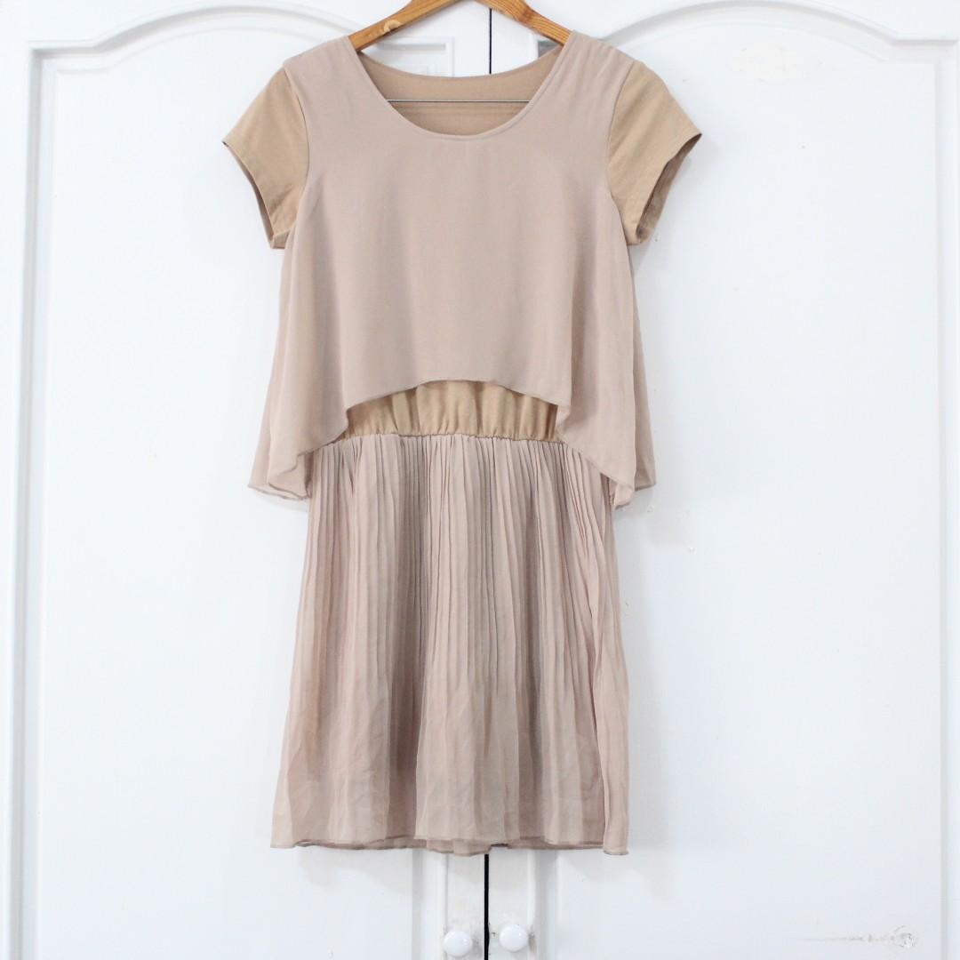 Nude Brown Dress
