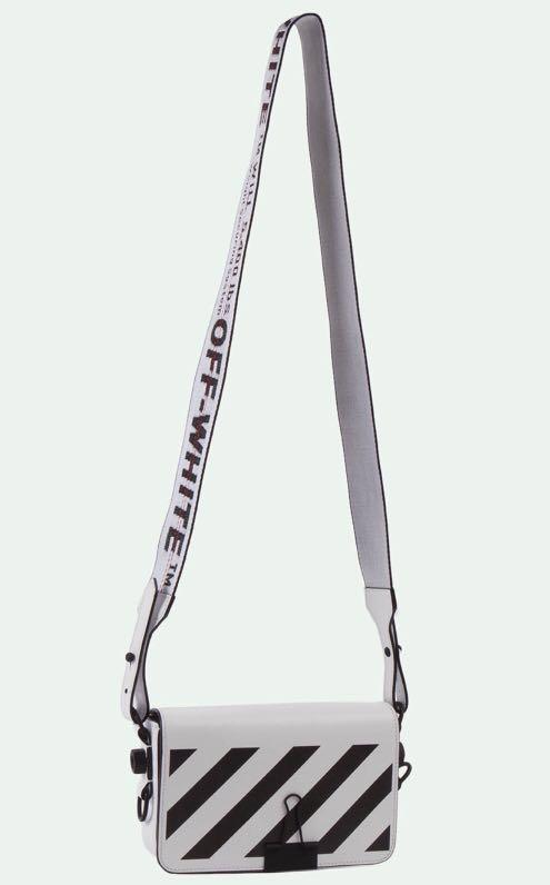 8971fff82860d Off-White Diagonal Stripe Mini Square Flap Bag