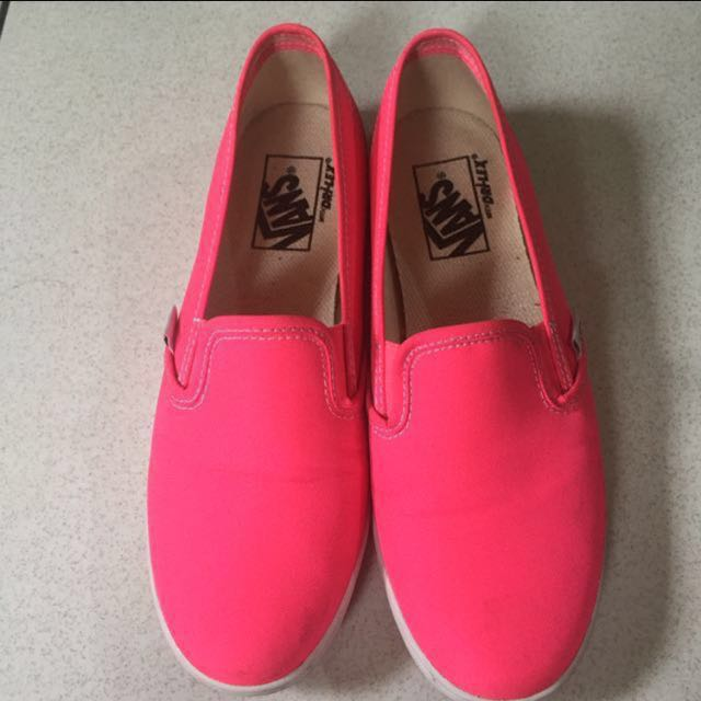 Original slip-on shoes Vans Neon Pink