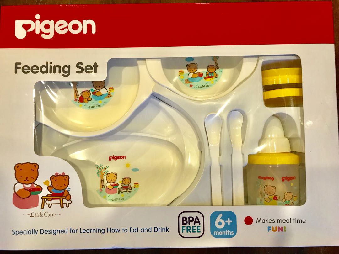 Pigeon Feeding Set with Mag Mag Training Cup, Babies & Kids, Nursing & Feeding on Carousell