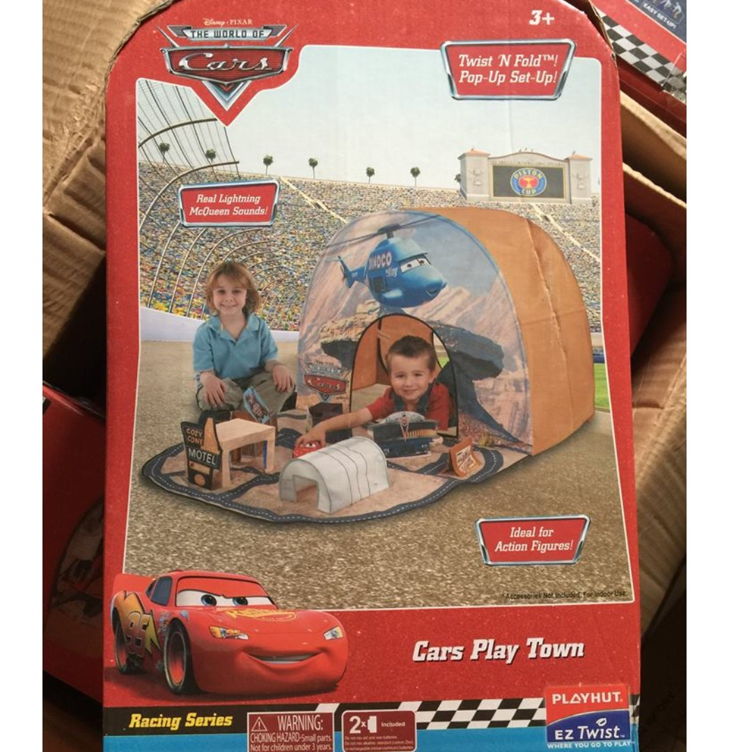 photo photo ...  sc 1 st  Carousell & BARGAIN!! Playhut Disney Pixar Cars Play Town Tent with Sounds ...