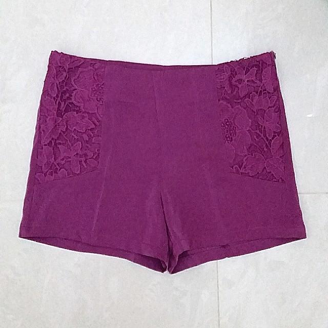 BNWT Premium Quality Purple Lace Shorts