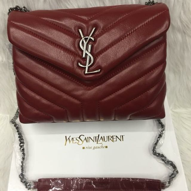 Sale!!! Authentic Yves Saint Laurent Lamskin Leather Sling Bag