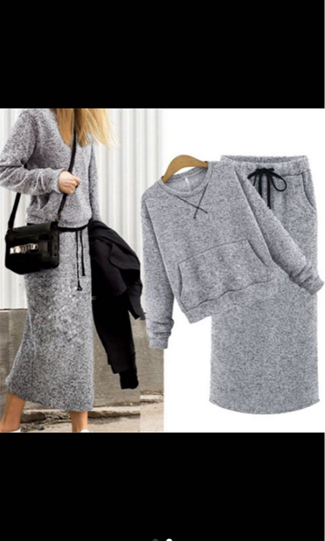 Set top & bottom sweater