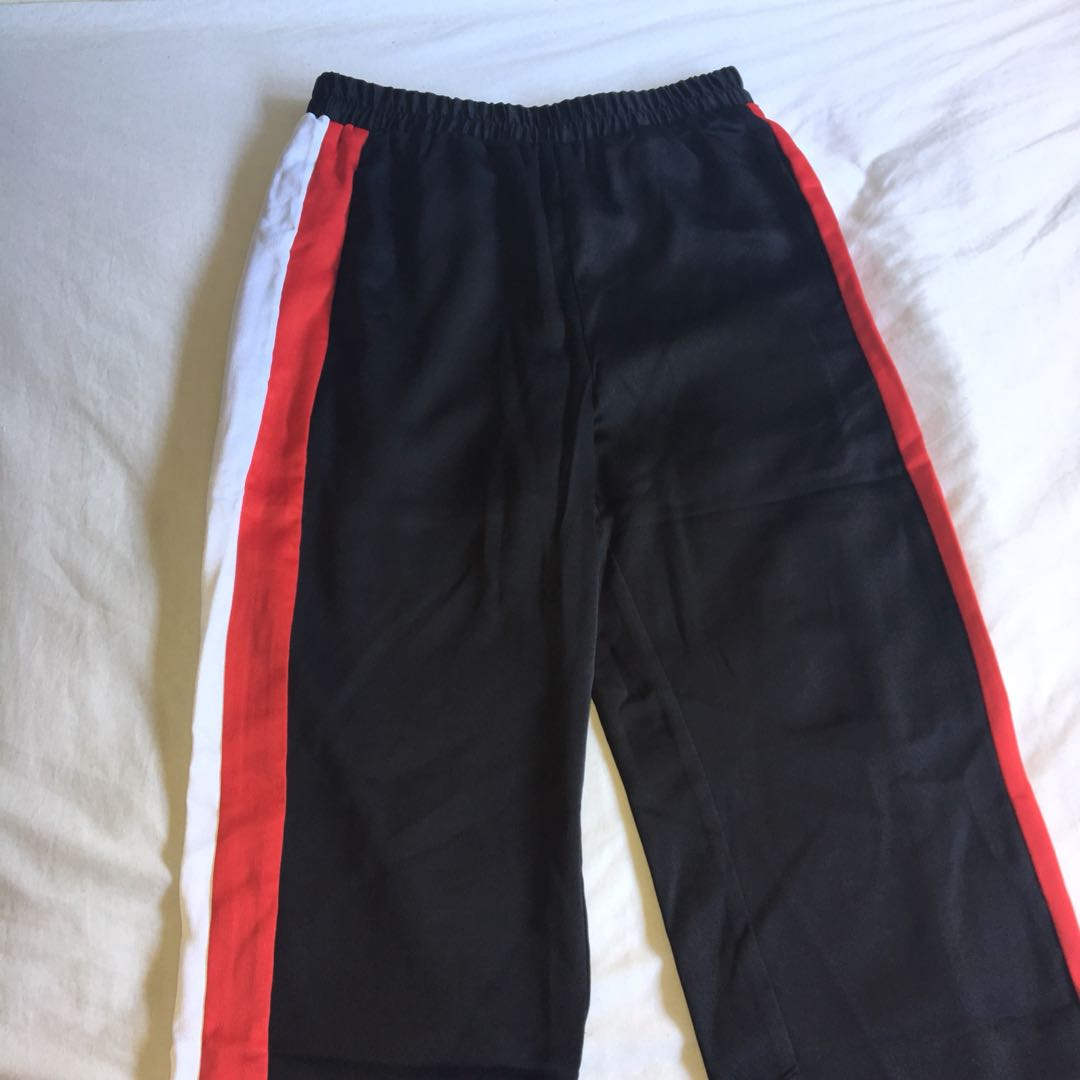 Silk grey tracksuit pants